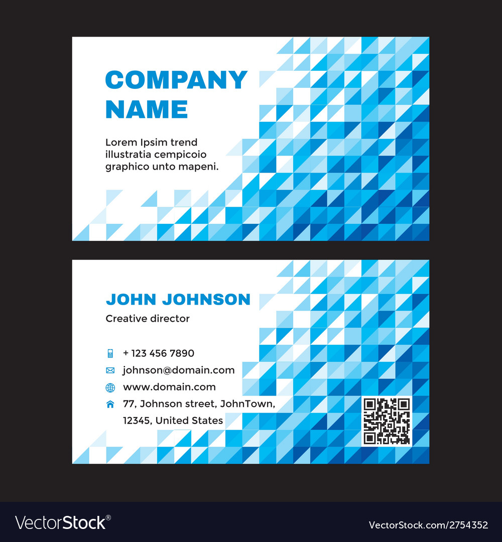Business visit card with abstract blue background vector | Price: 1 Credit (USD $1)