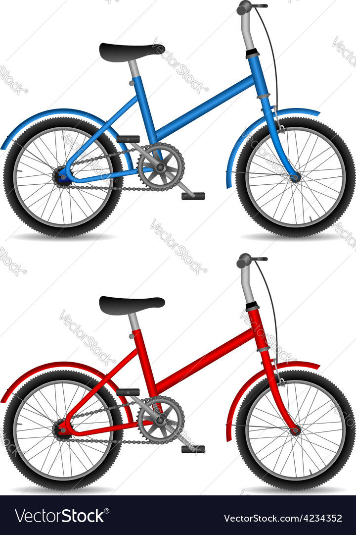 Children bikes vector | Price: 1 Credit (USD $1)