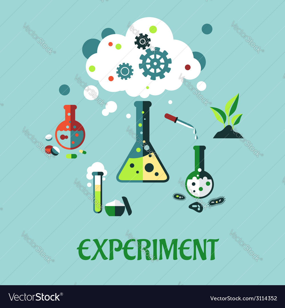 Experiment flat design vector | Price: 1 Credit (USD $1)
