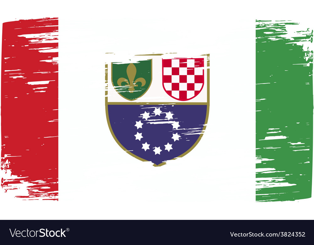 Flag of bosnia and herzegovina federation with old vector | Price: 1 Credit (USD $1)
