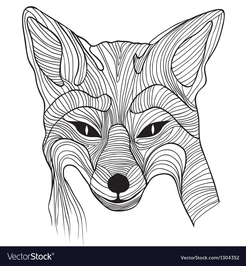 Fox animal sketch vector | Price: 1 Credit (USD $1)