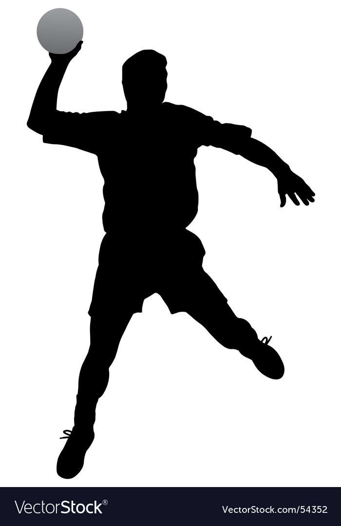 Handball player vector | Price: 1 Credit (USD $1)