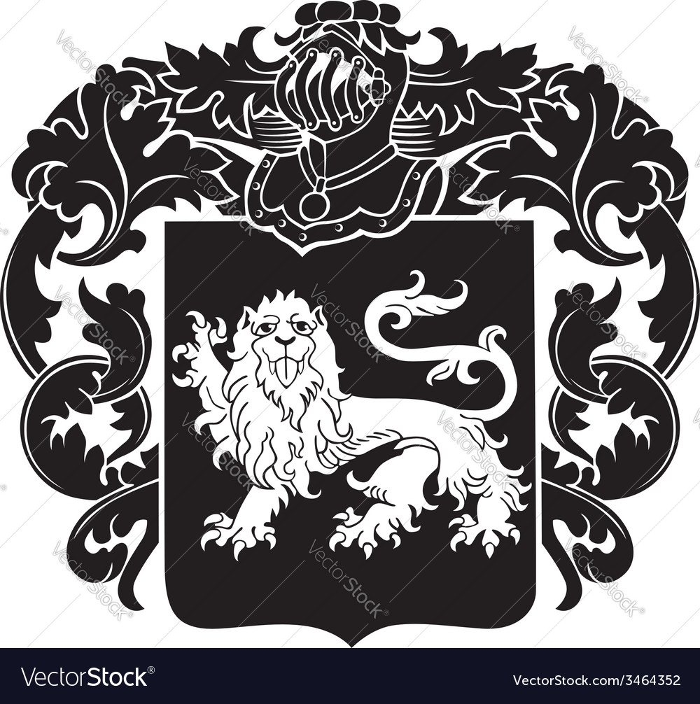 Heraldic silhouette no29 vector | Price: 1 Credit (USD $1)