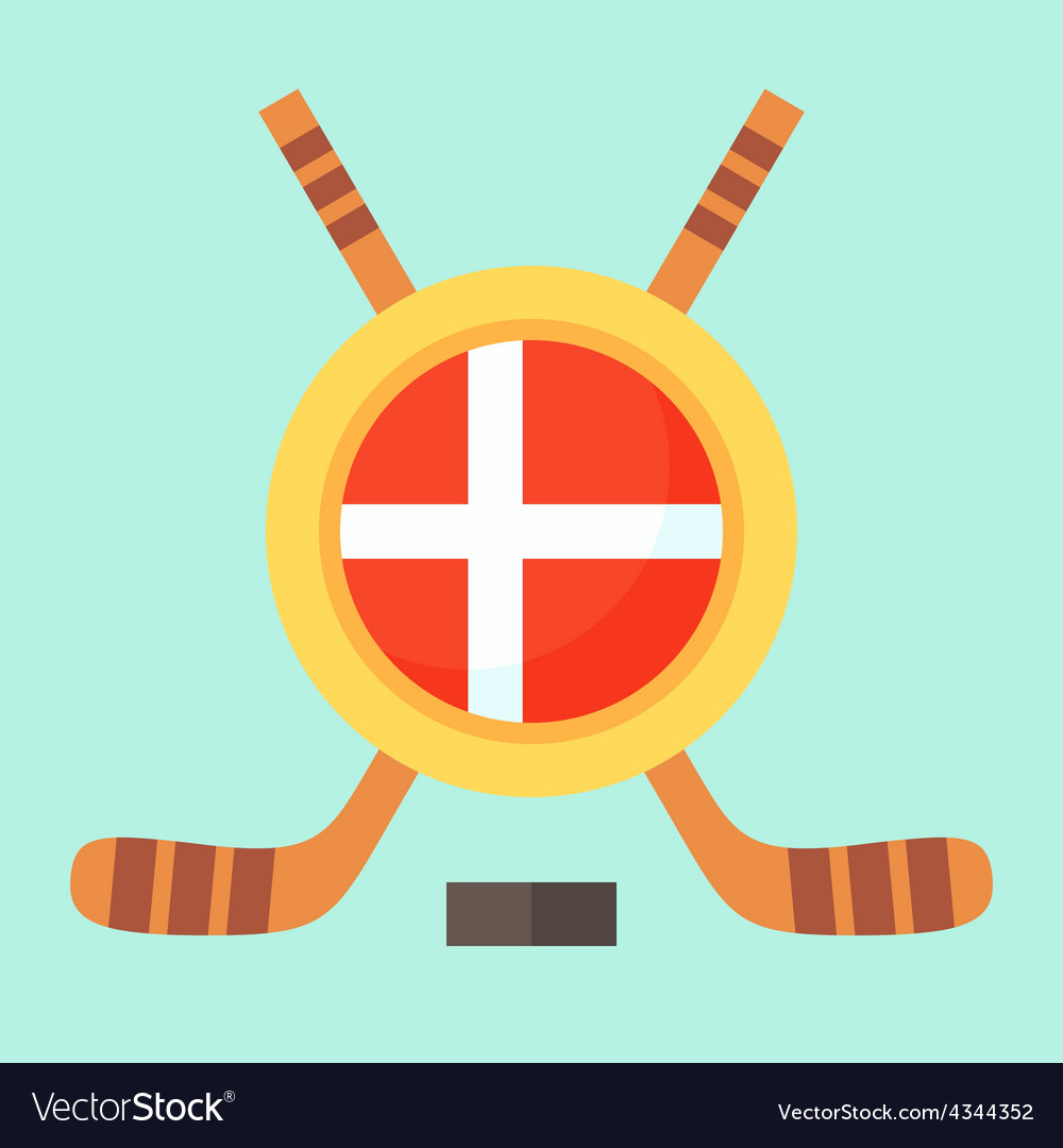 Hockey in denmark vector | Price: 1 Credit (USD $1)