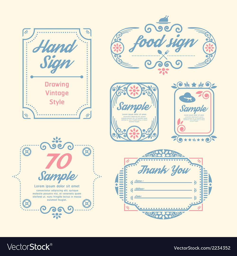 Label vintage design labels vector | Price: 1 Credit (USD $1)