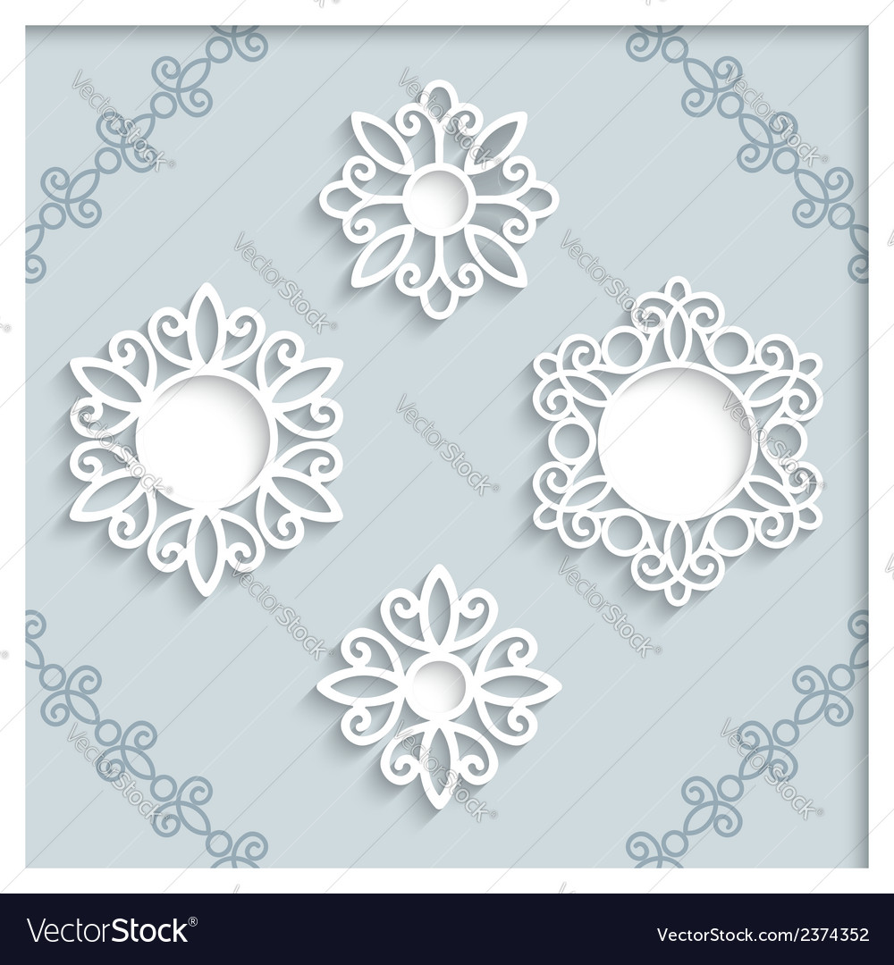 Paper label set vector | Price: 1 Credit (USD $1)