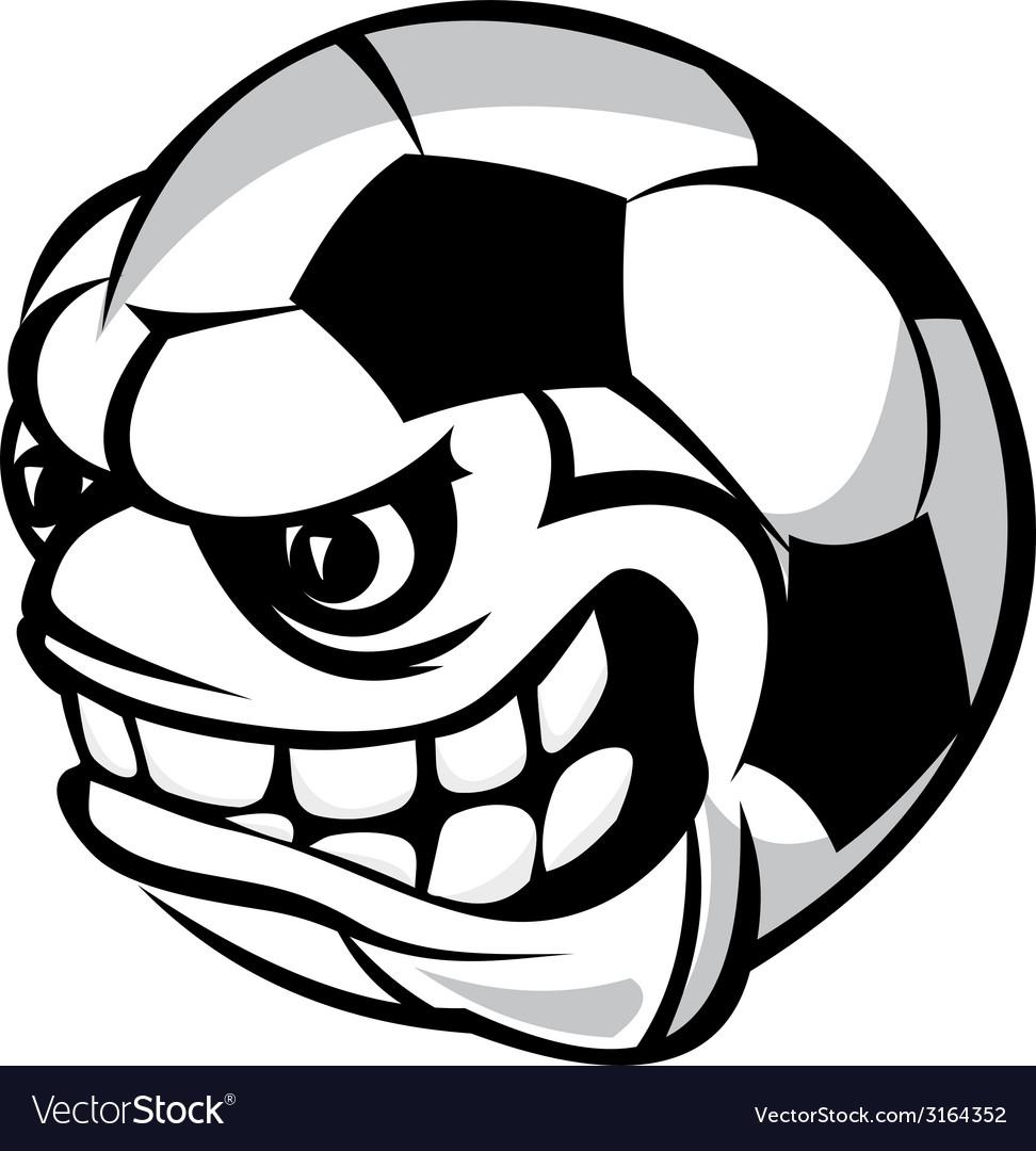 Soccer cartoon ball vector   Price: 1 Credit (USD $1)