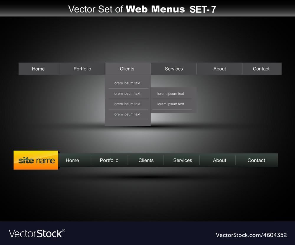 Web navigation vector | Price: 1 Credit (USD $1)