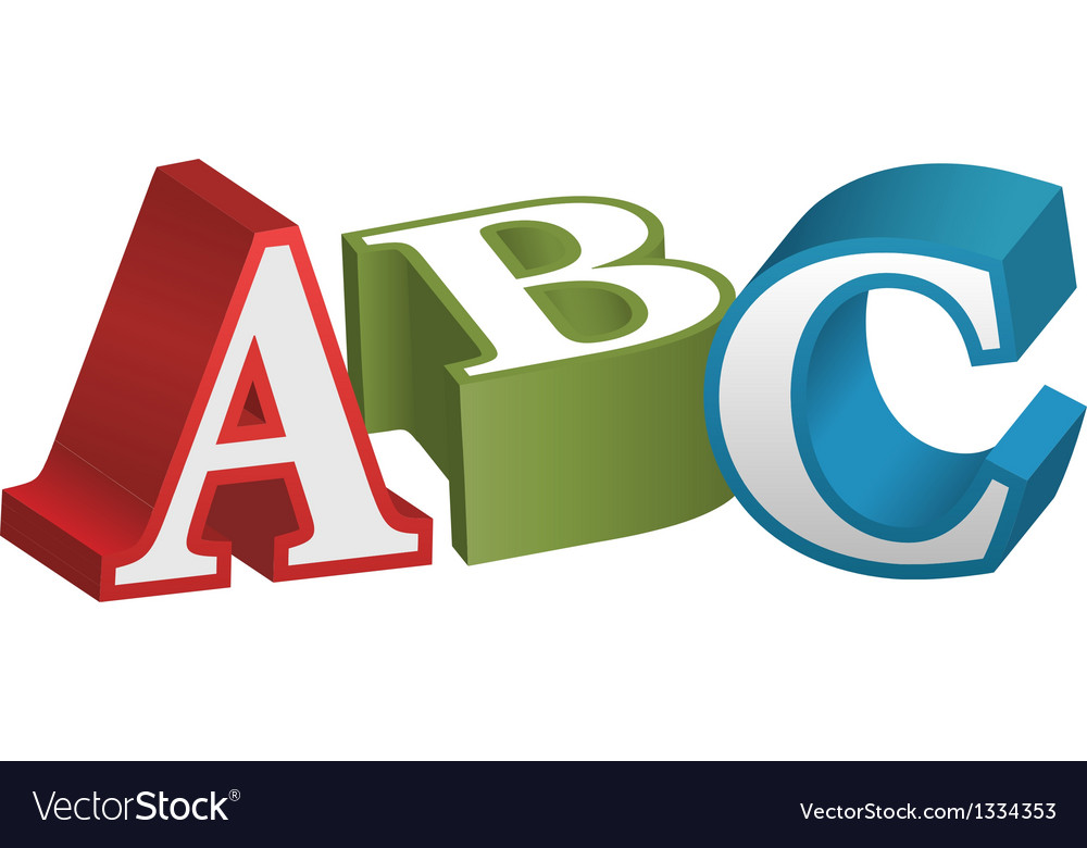 Abc font alphabet teaching letters vector | Price: 1 Credit (USD $1)