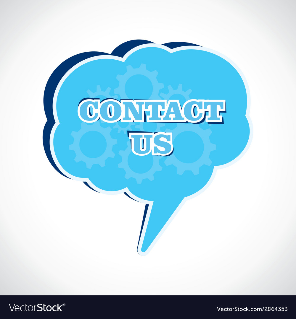 Contact us message bubble vector | Price: 1 Credit (USD $1)