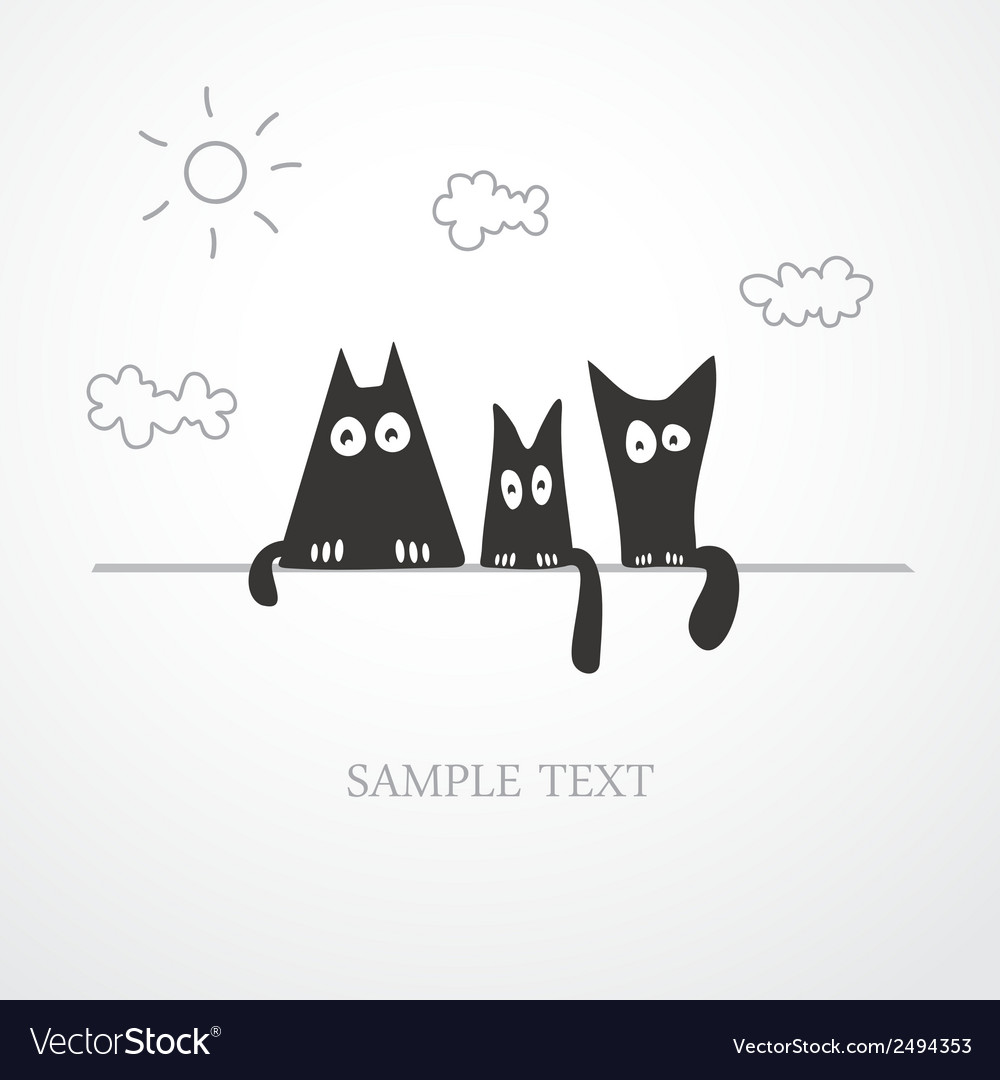 Cute cats vector | Price: 1 Credit (USD $1)
