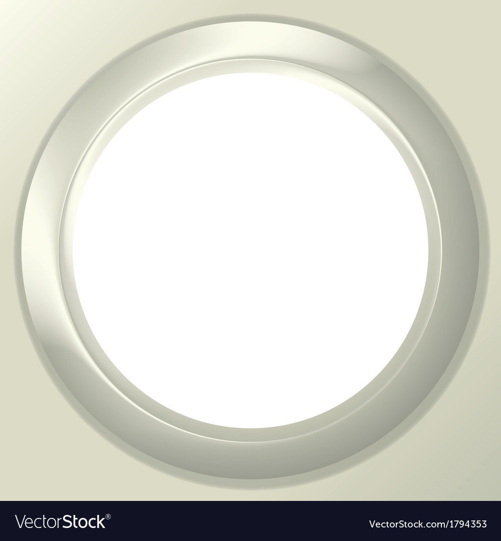 Frame porthole on white background vector | Price: 1 Credit (USD $1)