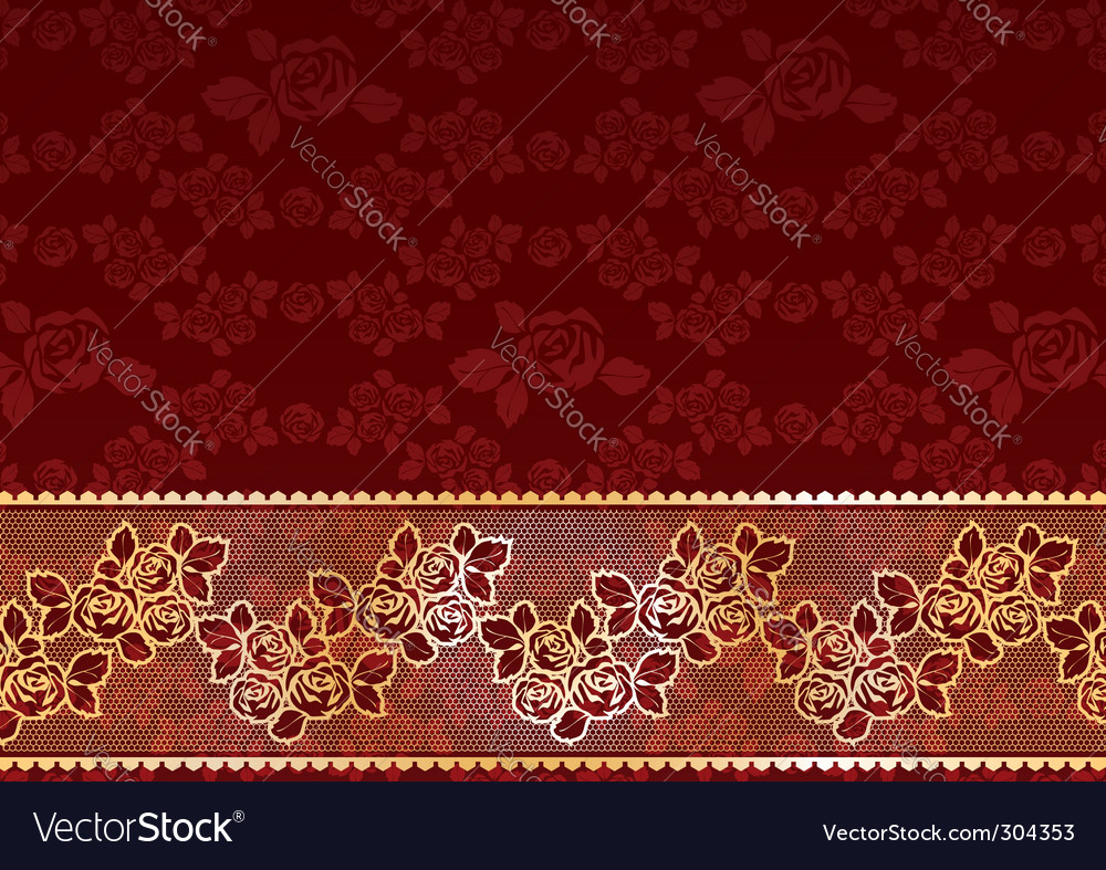 Gold lace roses vector | Price: 1 Credit (USD $1)