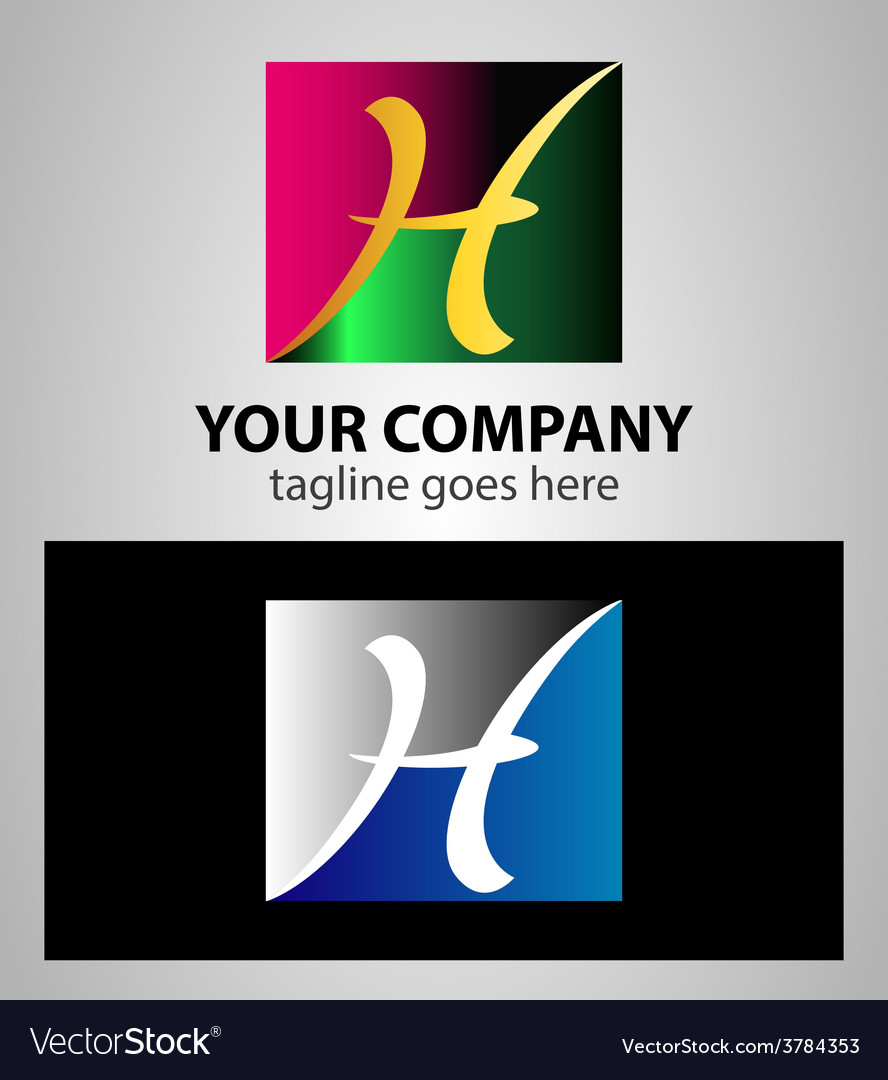 Letter h logo symbol design template elements with vector | Price: 1 Credit (USD $1)