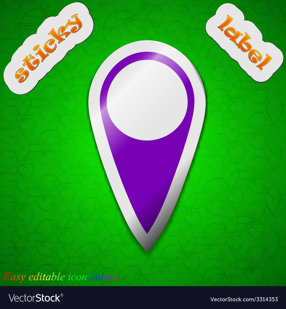 Map pointer icon sign symbol chic colored sticky vector   Price: 1 Credit (USD $1)