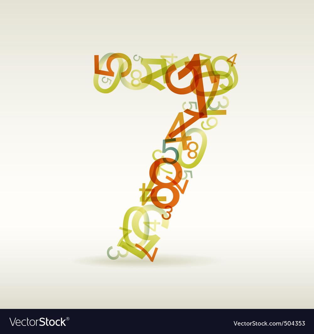 Number seven vector | Price: 1 Credit (USD $1)