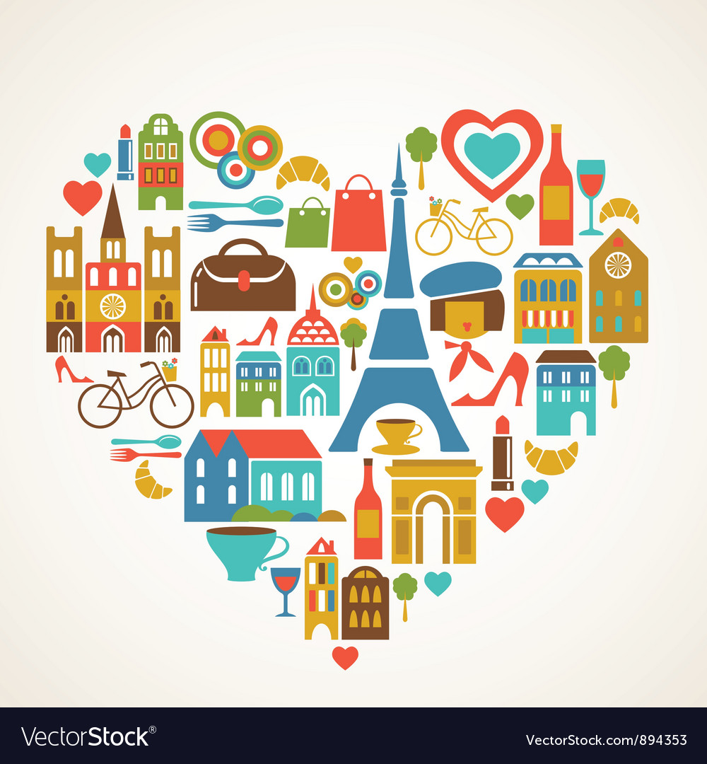 Paris love vector | Price: 3 Credit (USD $3)