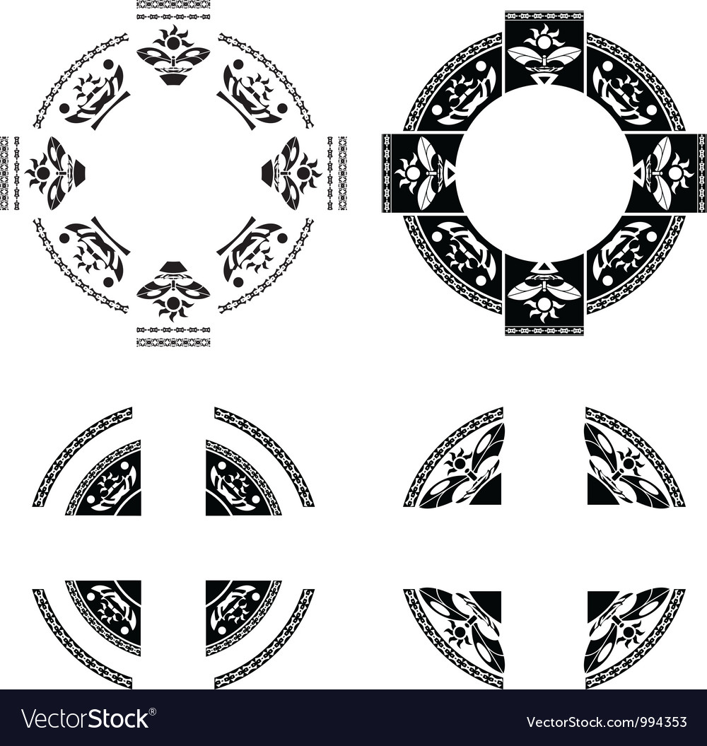 Set of fantasy rings vector | Price: 1 Credit (USD $1)