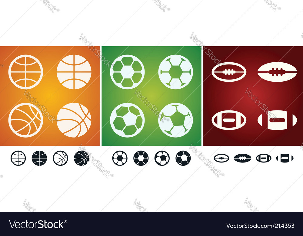 Team sport balls vector | Price: 1 Credit (USD $1)