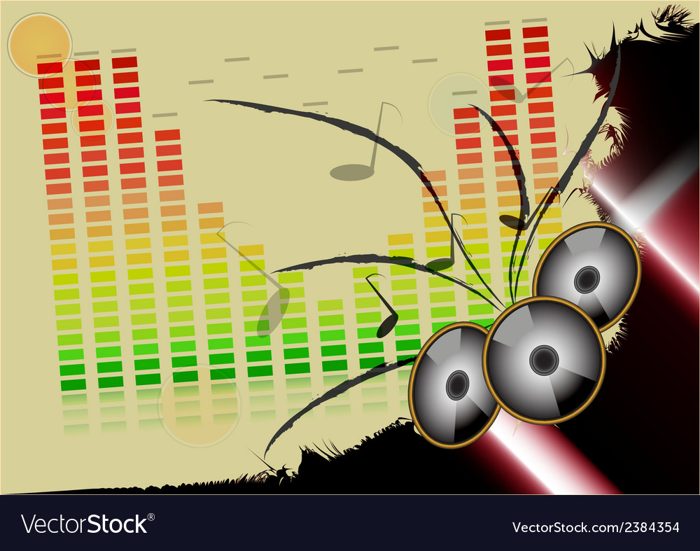 Abstract music colorful background vector | Price: 1 Credit (USD $1)