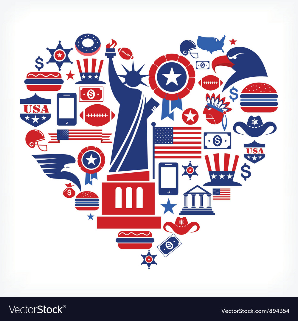 America love vector | Price: 3 Credit (USD $3)