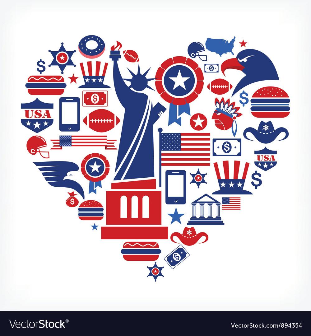 America love vector | Price: 3 Credit (USD $3)