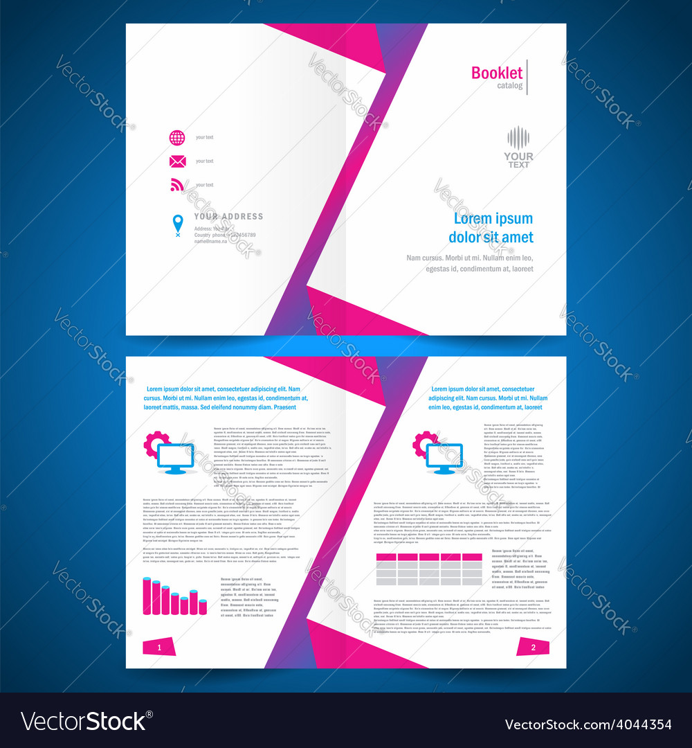 Booklet catalog brochure folder polygonal geometri vector | Price: 1 Credit (USD $1)