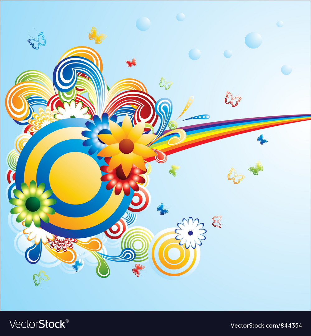 Creative funky background vector | Price: 1 Credit (USD $1)