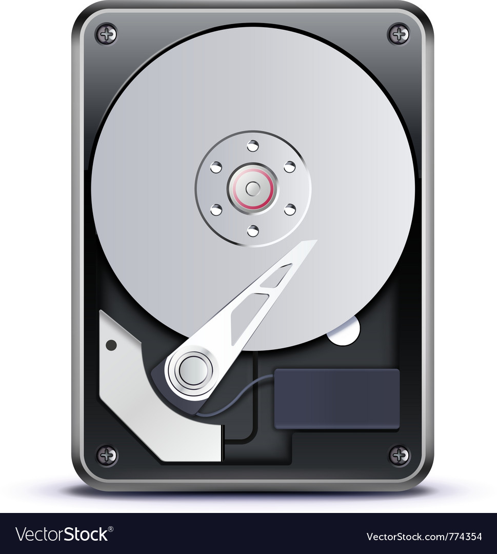 Hard drive disk vector | Price: 3 Credit (USD $3)
