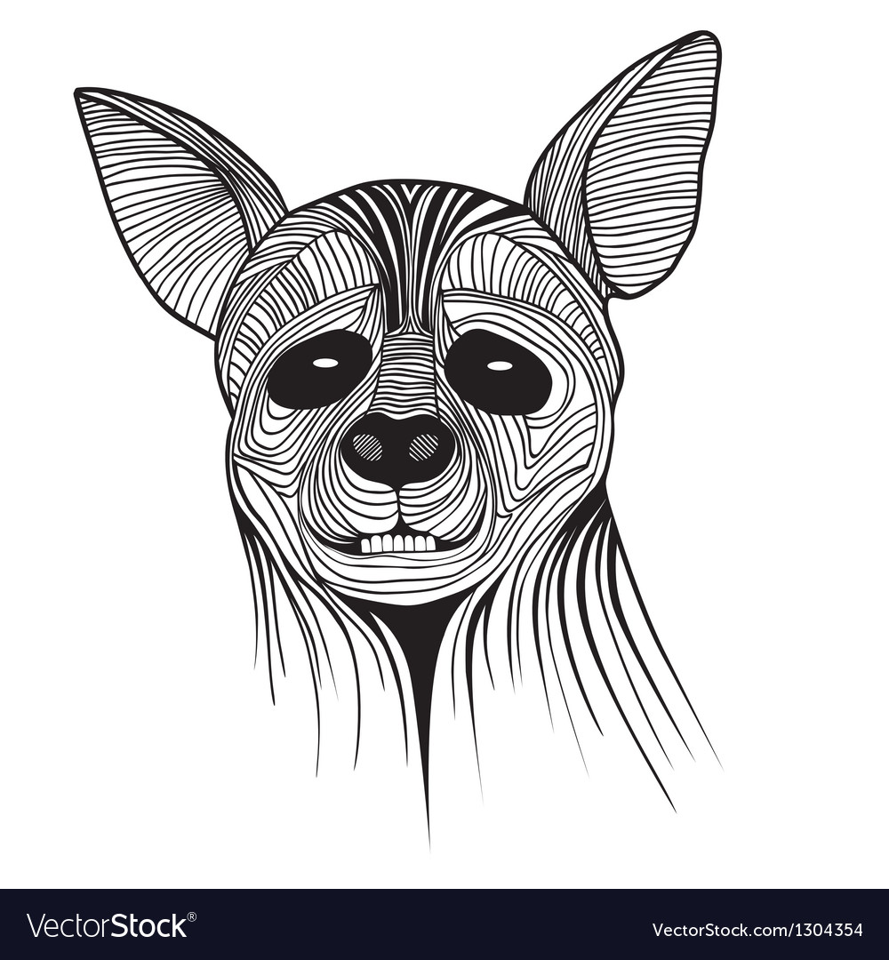 Hyena animal sketch tattoo symbol vector | Price: 1 Credit (USD $1)