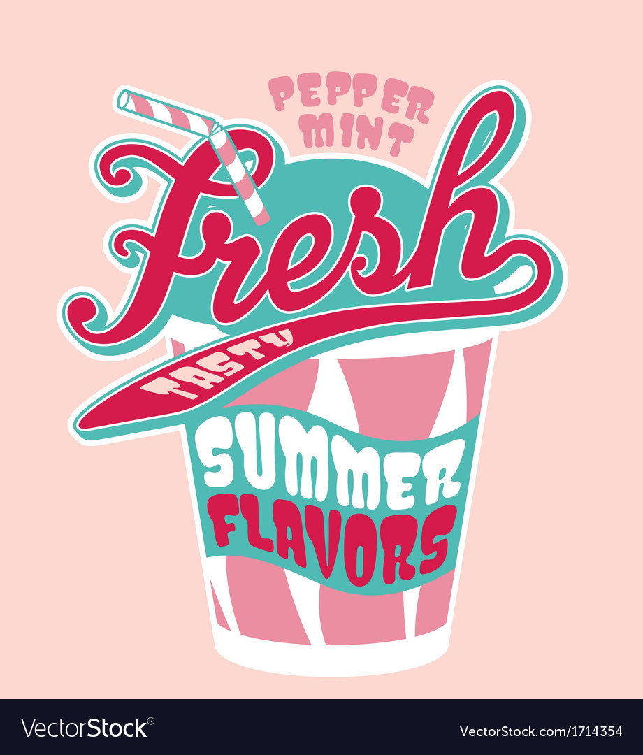 Peppermint milkshake cup vector   Price: 1 Credit (USD $1)