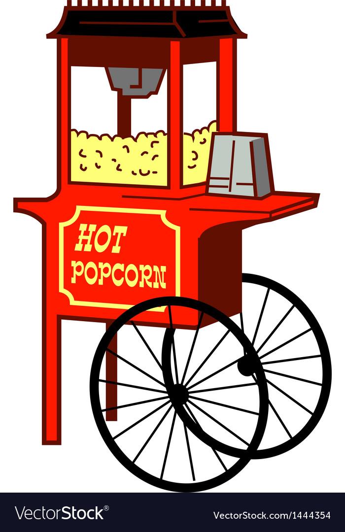 Popcorn machine vector