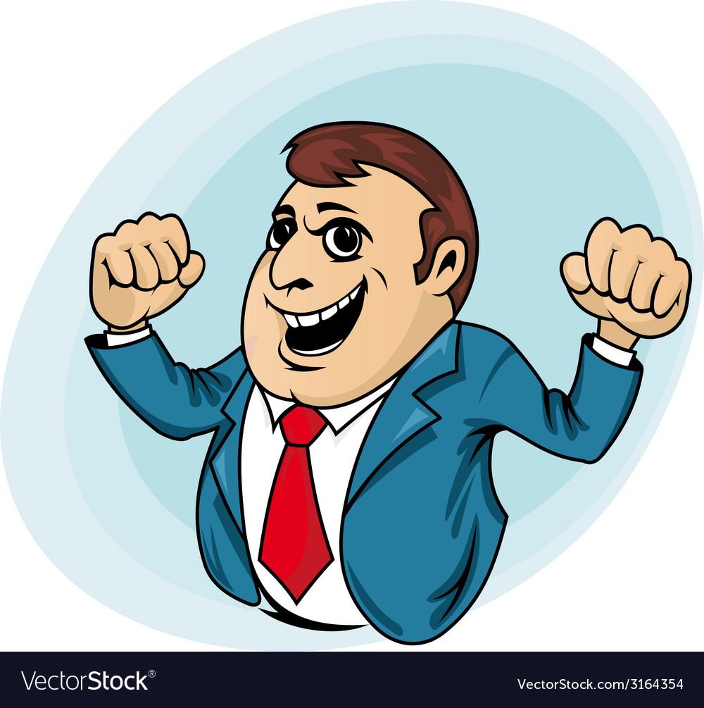 Power muscular businessman vector | Price: 1 Credit (USD $1)