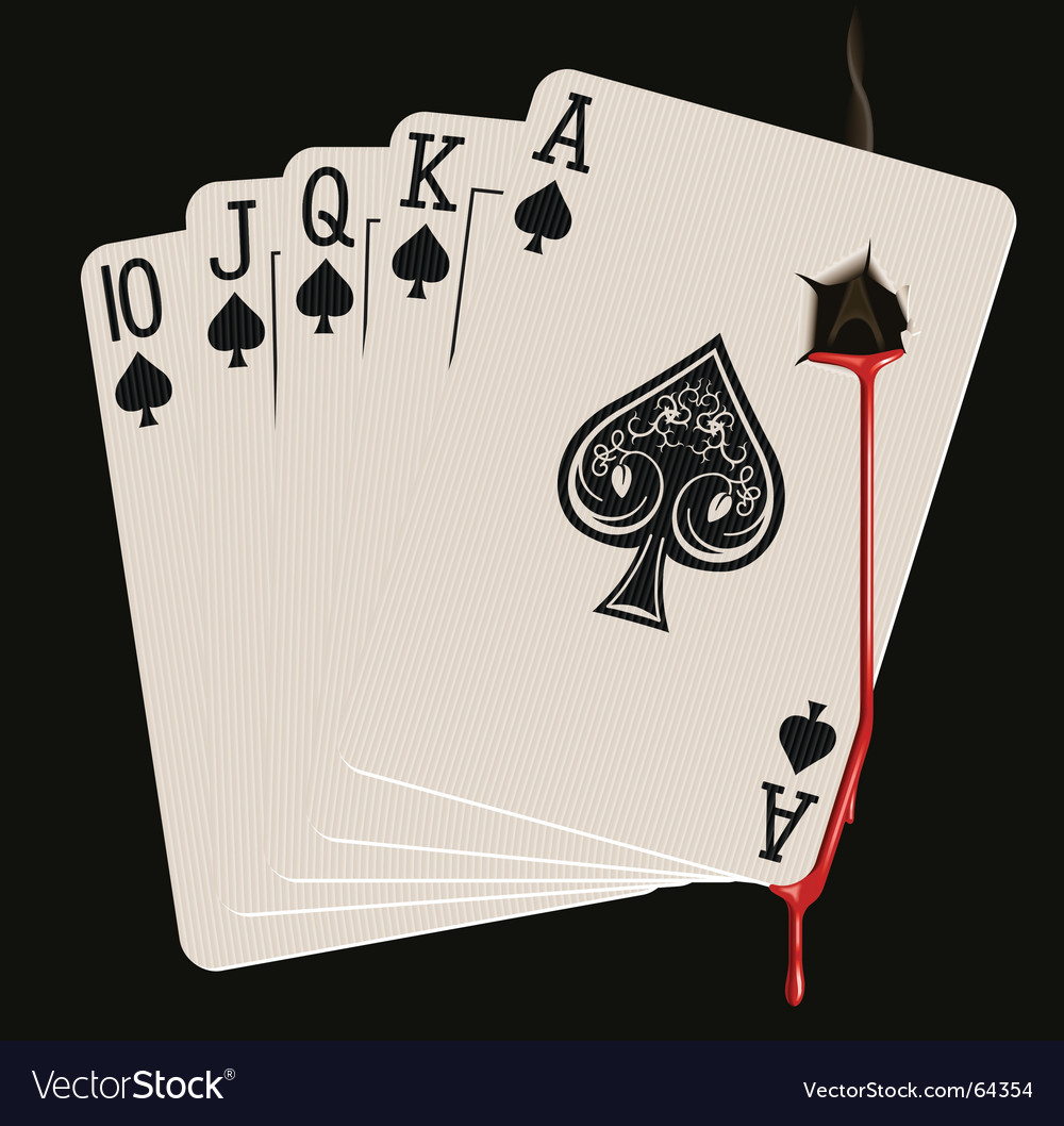 Royal flush bleeding vector | Price: 3 Credit (USD $3)