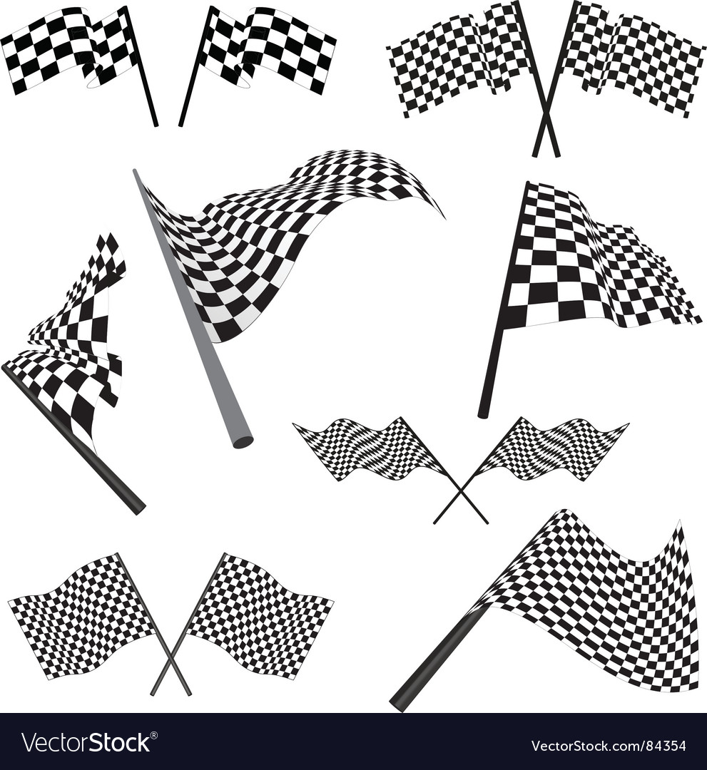 Set of racing flags vector | Price: 1 Credit (USD $1)