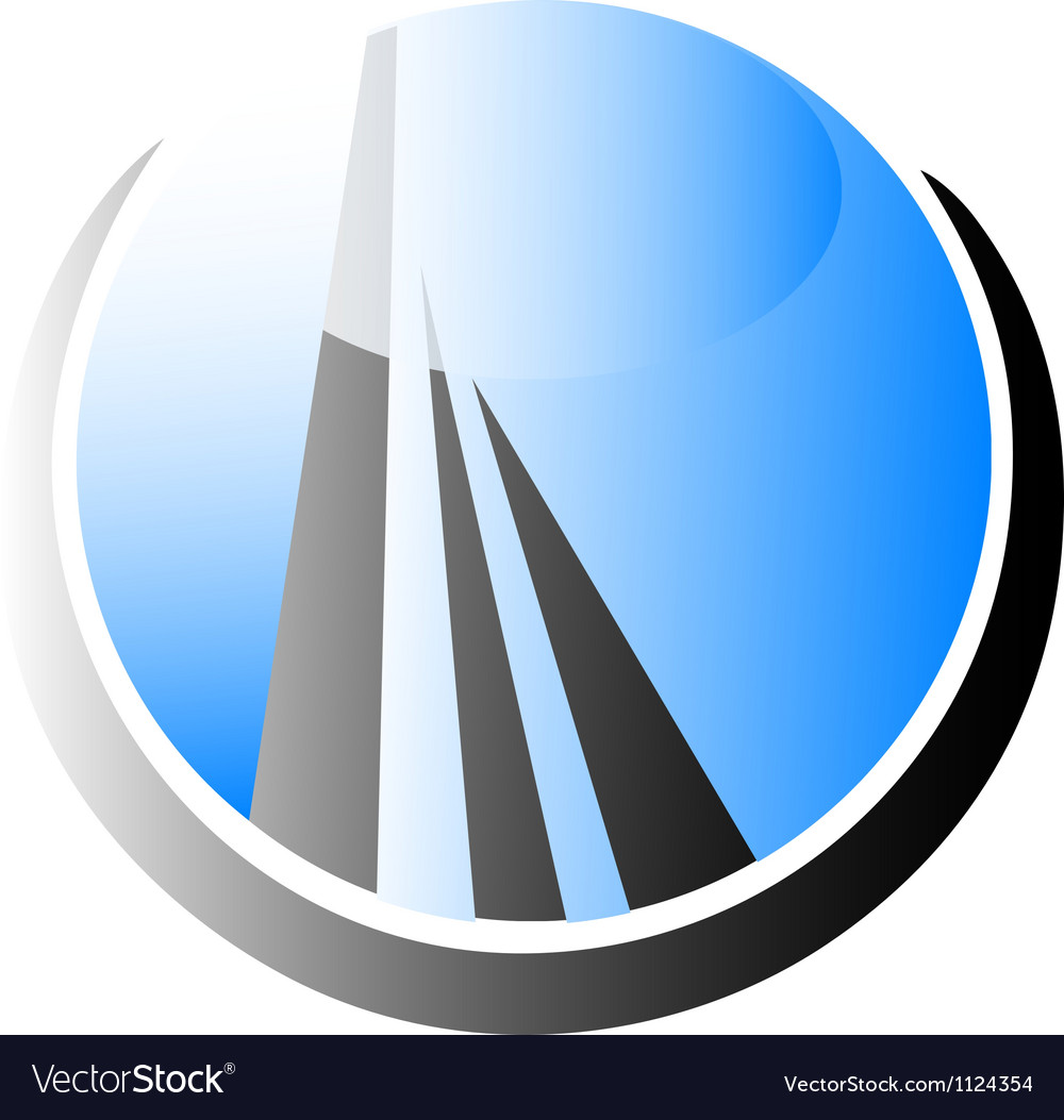 Skyscraper building logo vector | Price: 1 Credit (USD $1)