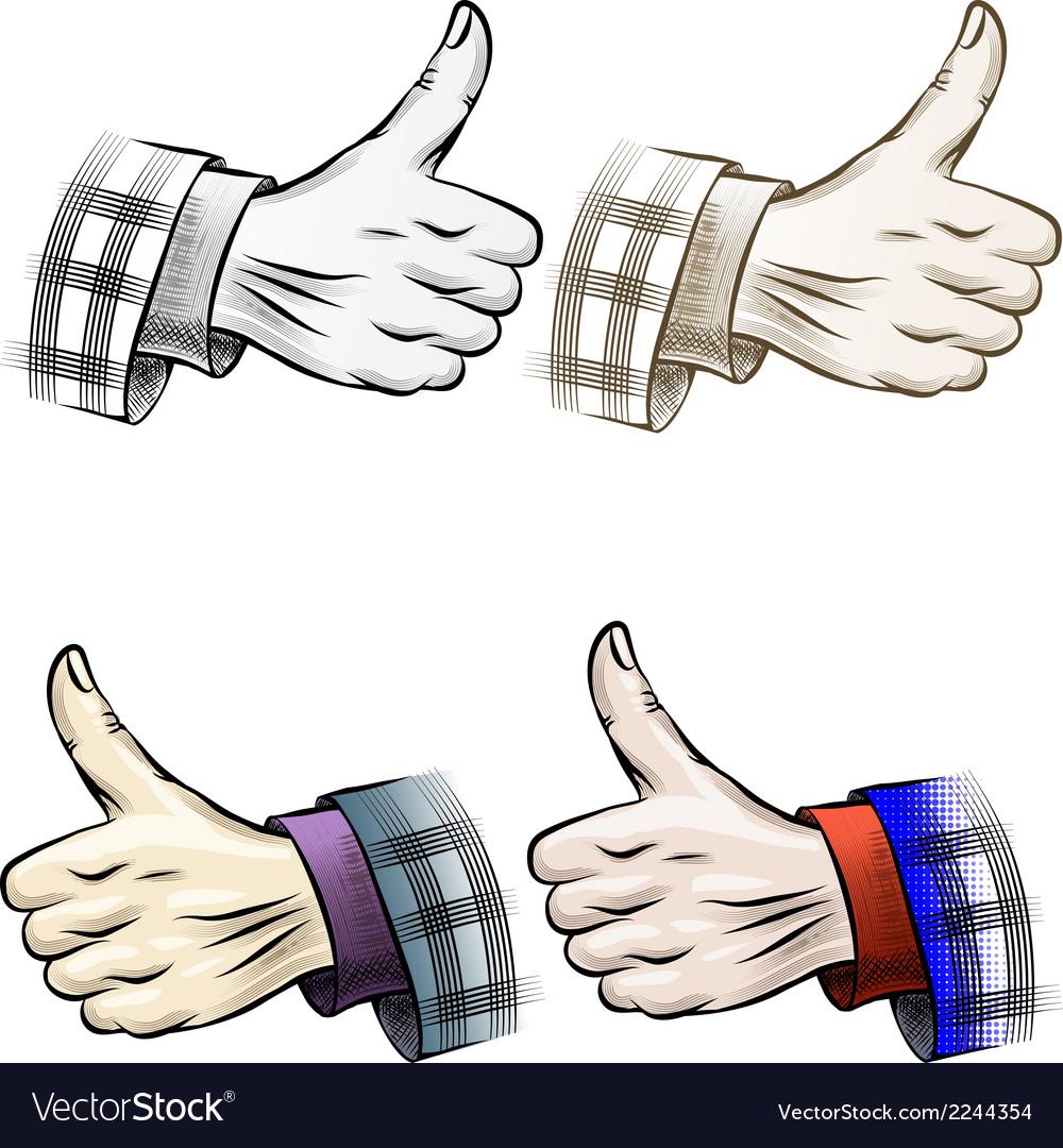 Thumb up set vector   Price: 1 Credit (USD $1)