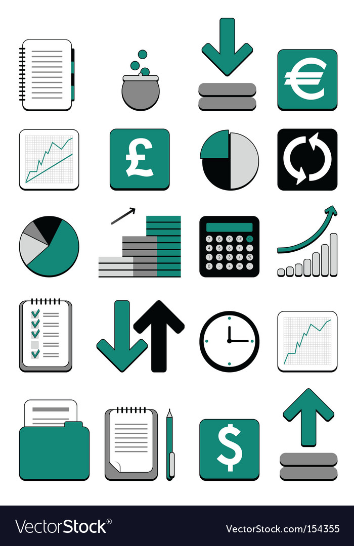 Finance web icon vector | Price: 1 Credit (USD $1)