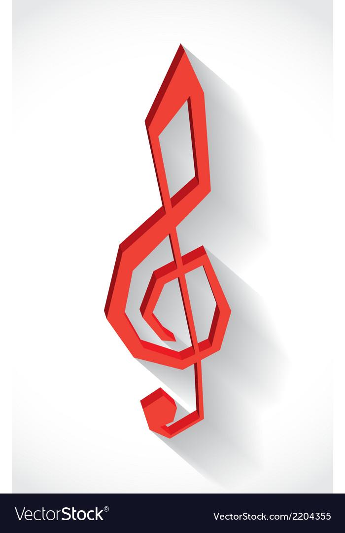G clef vector | Price: 1 Credit (USD $1)