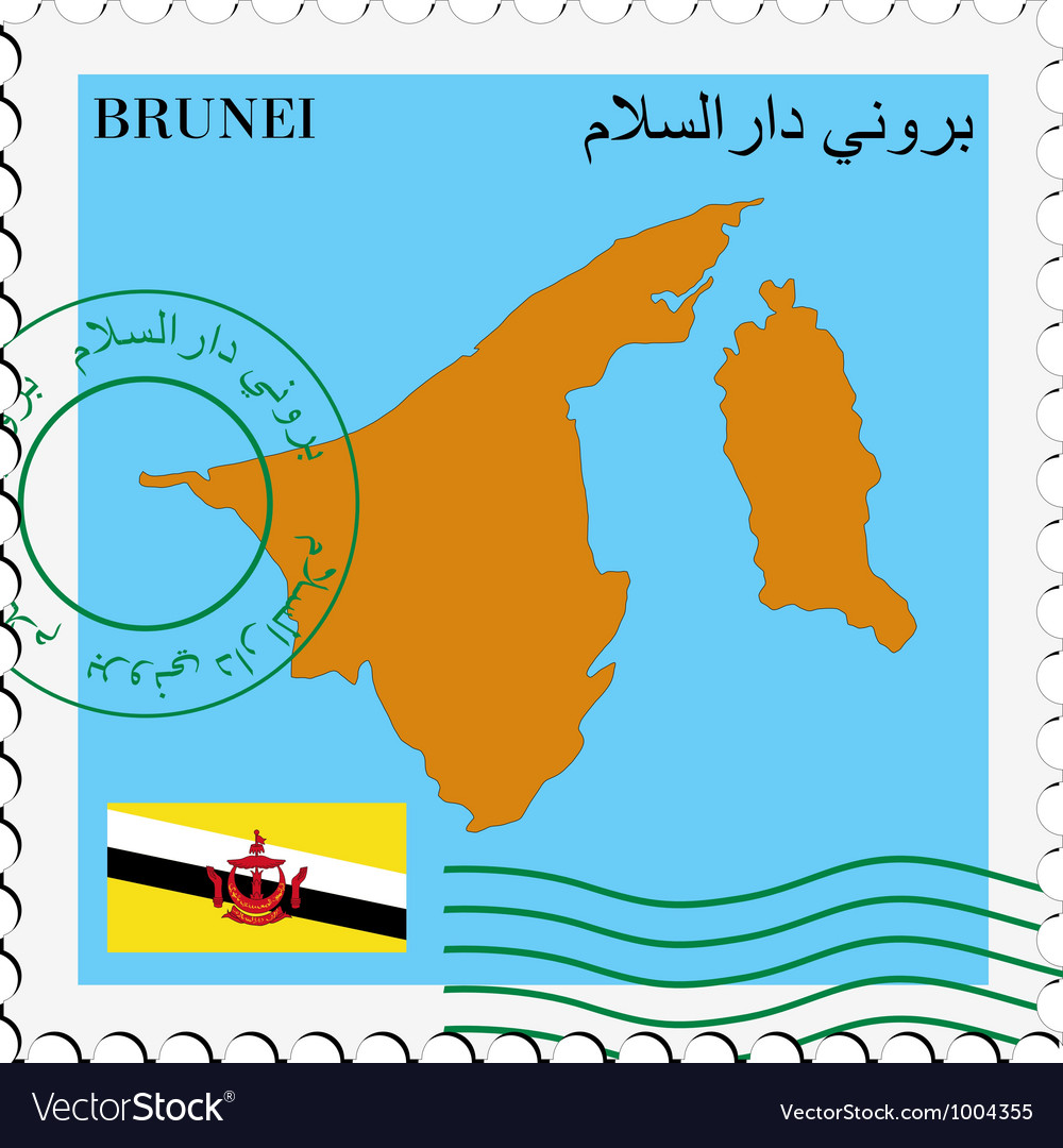 Mail to-from brunei vector | Price: 1 Credit (USD $1)