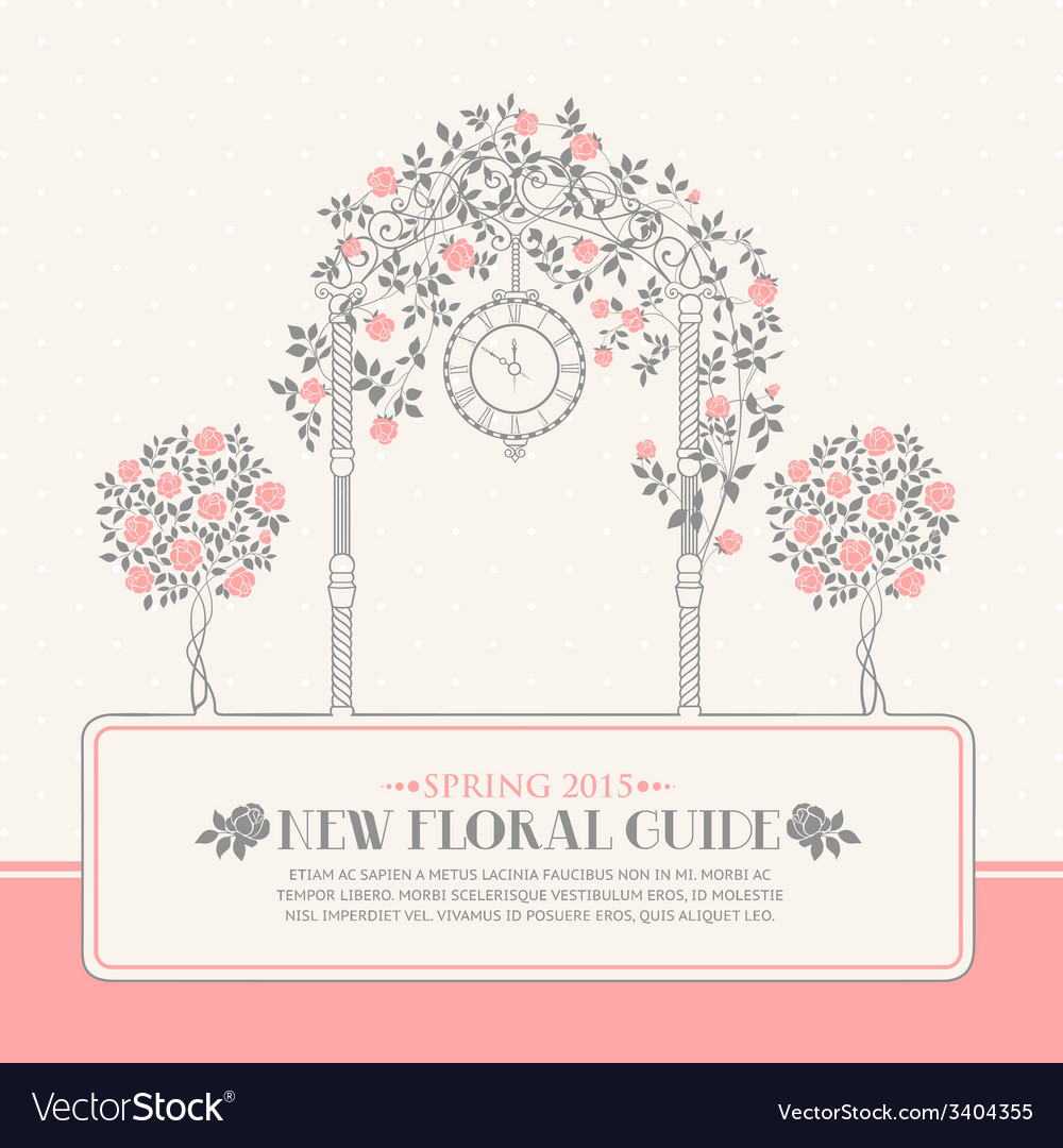 Roses garden vector | Price: 1 Credit (USD $1)