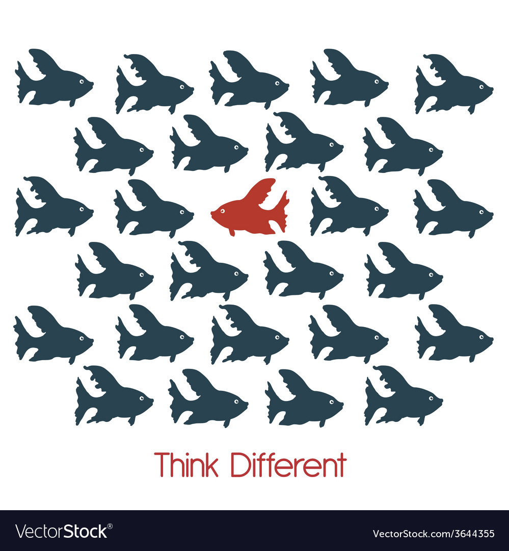 Think different vector | Price: 1 Credit (USD $1)