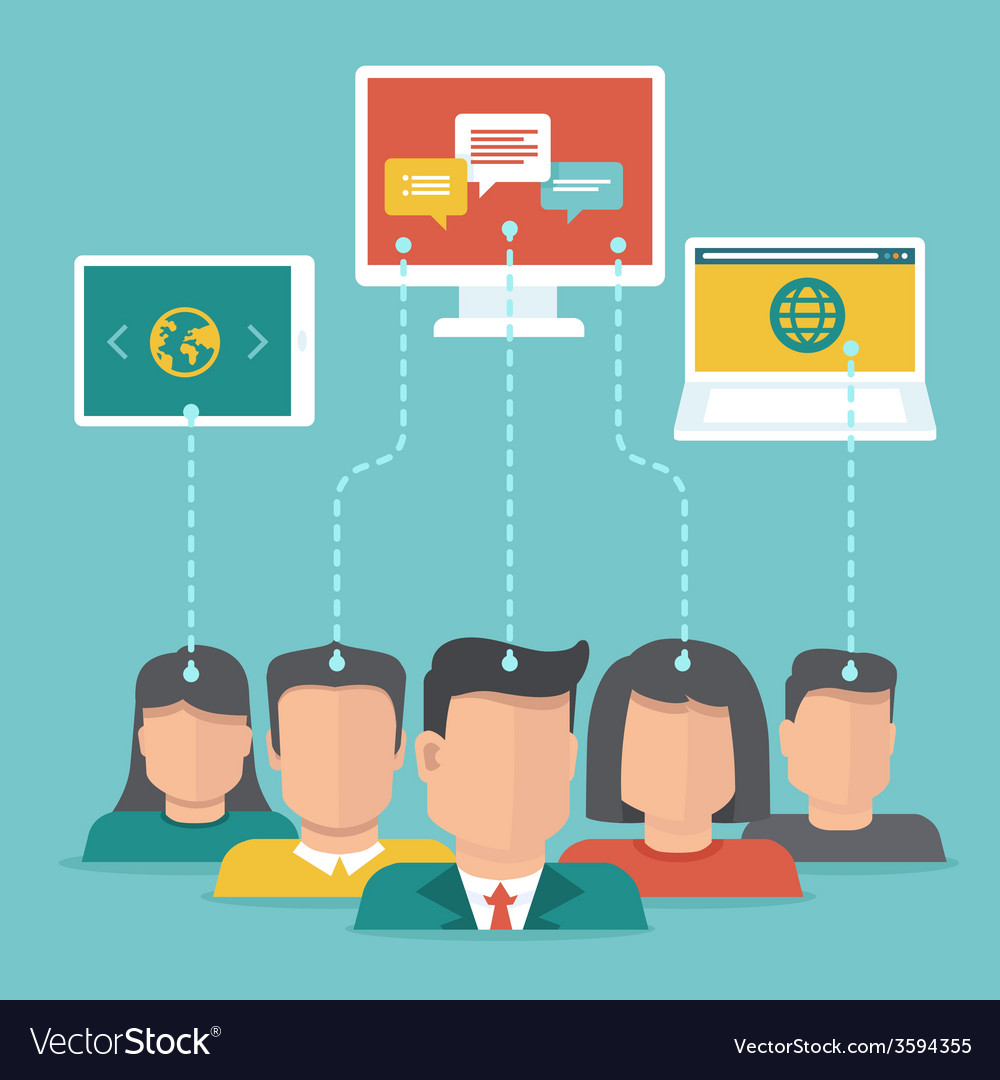 User generated content concept in flat style vector   Price: 1 Credit (USD $1)