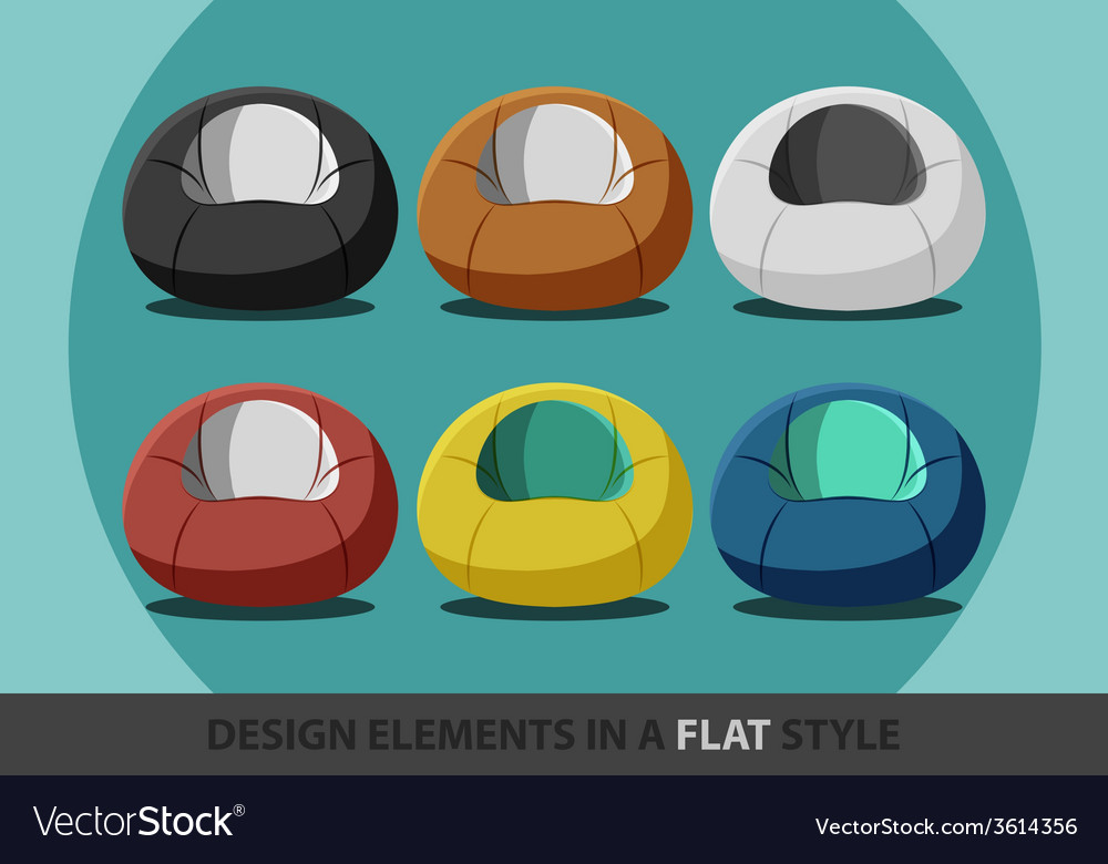 Beanbag in a flat style vector | Price: 1 Credit (USD $1)