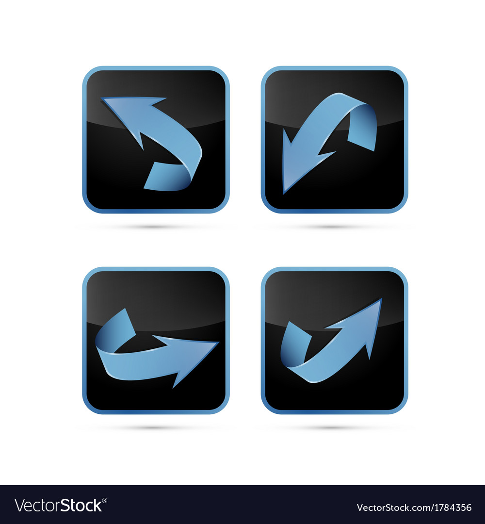 Black and blue abstract arrows set vector | Price: 1 Credit (USD $1)