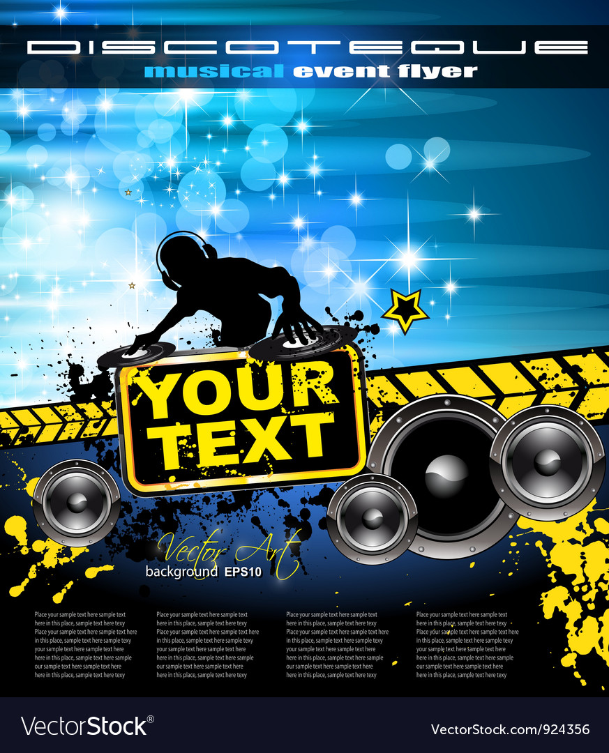 Disco event poster vector | Price: 3 Credit (USD $3)