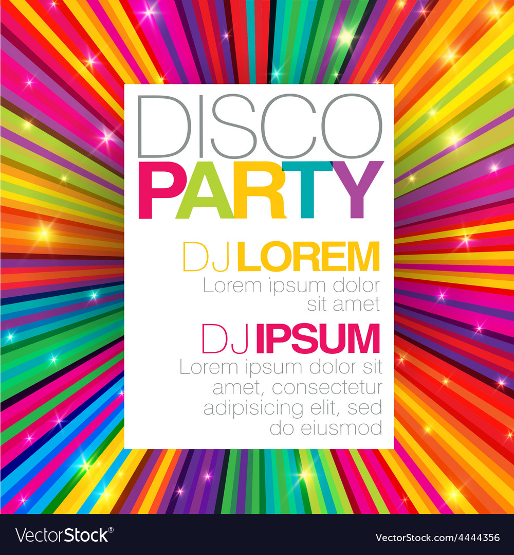 Disco party template vector | Price: 1 Credit (USD $1)