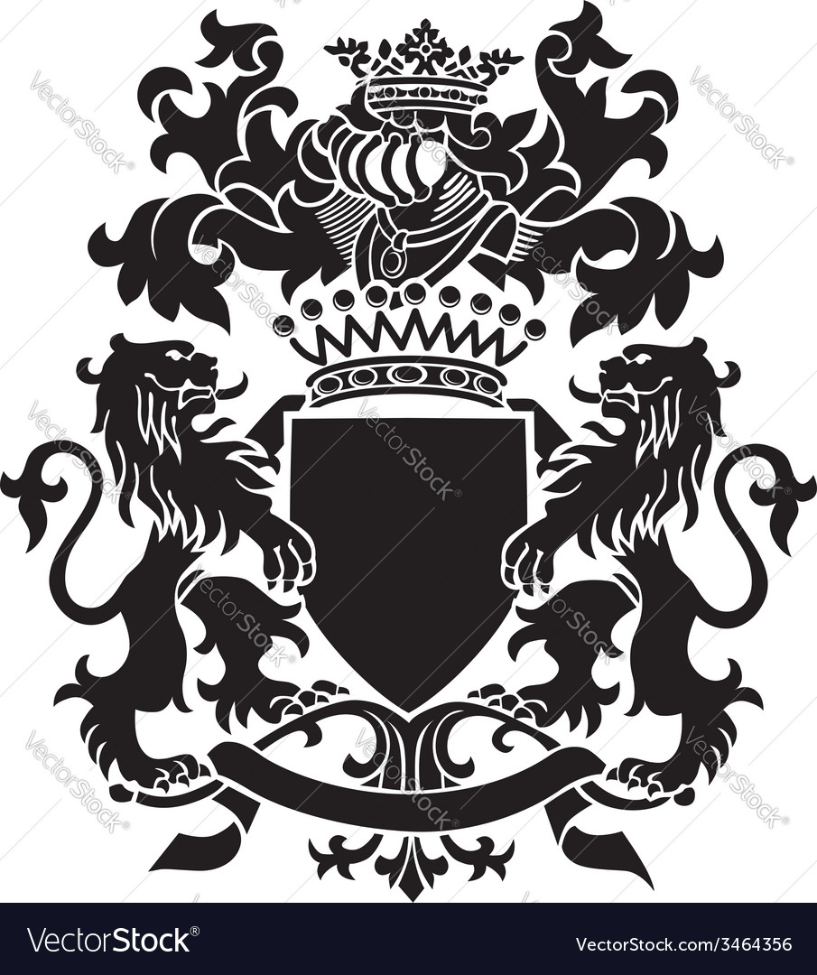 Heraldic silhouette no30 vector | Price: 1 Credit (USD $1)