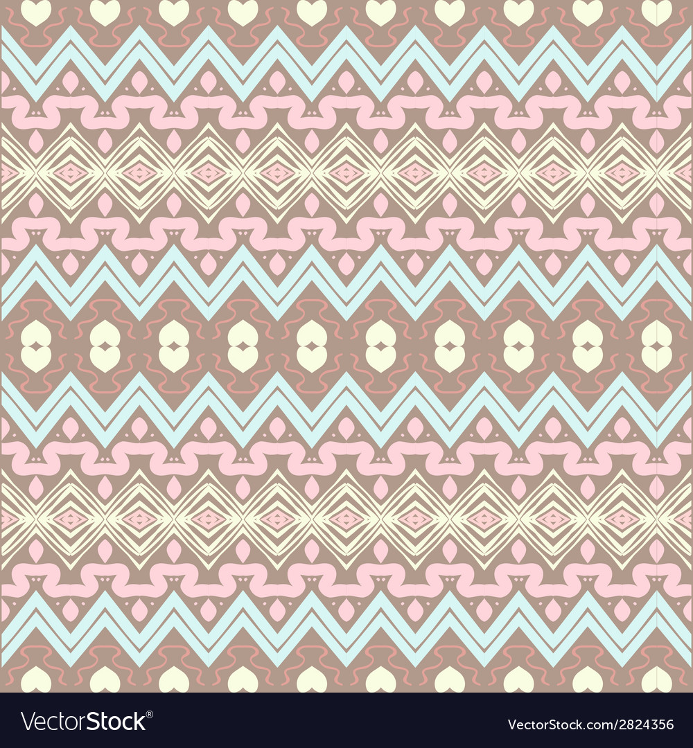 Seamless ornament in ethnic style vector | Price: 1 Credit (USD $1)