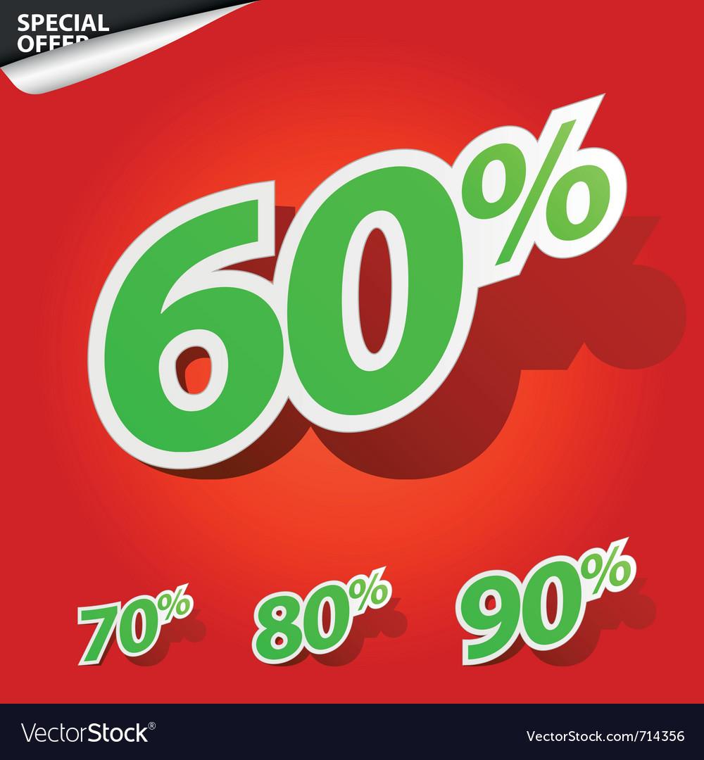 Set of labels percent vector | Price: 1 Credit (USD $1)